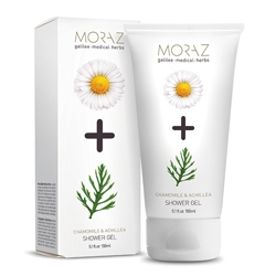 MORAZ Гель для тела очищающий на экстрактах граната и горца PREMIUM BEAUTY MORAZ+ (премиальный уход)