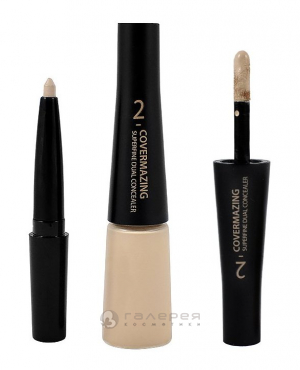 Консилер двойной 02 (eстественный) Кавермэджин / Covermazing Super Fine Dual Concealer Natural 0,2гр+5гр