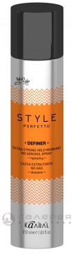 Лак без газа экстра фиксации/STYLE Perfetto DEFINER EXTRA STRONG HOLD WORKING NO AEROSOL SPRAY 350мл