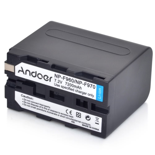 Andoer Rechargeable Replacement Camera Camcorder Li-ion Lithium Battery for Sony NP-F960 NP-F970 NP-F930 F950 F330 F550 F570 F750 F770
