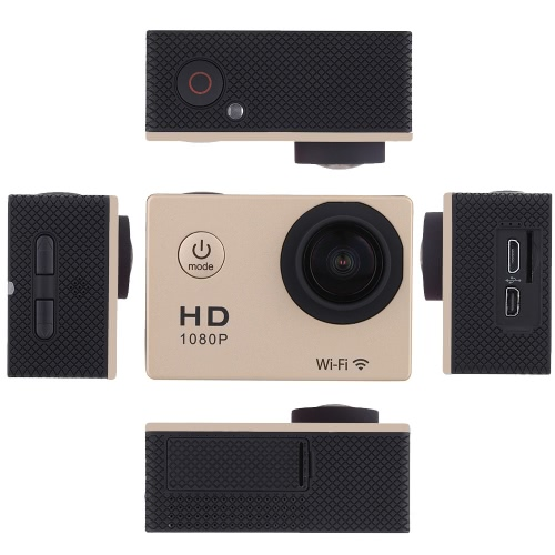 W8 1080P 30FPS 12MP Wifi Waterproof 30M Shockproof 170° Wide Angle 1.5″ Screen Outdoor Action Sports Camera Camcorder Digital Cam Video HD DV Car DVR