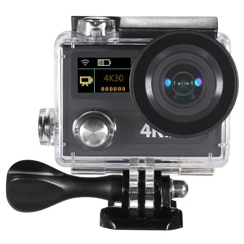 Wifi Sports Action Camera 2″ Dual LCD Screen 360 VR Play 4K 30fps 1080P 60fps 12MP Ultra HD 170°Wide-angle Waterproof 30M Cam DVR FPV