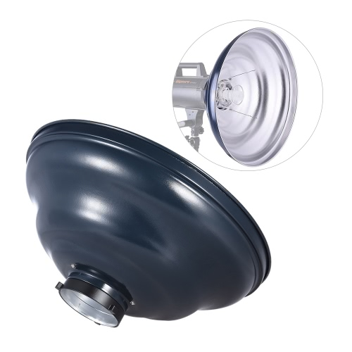 41cm / 16in Waved Beauty Dish Reflector with Honeycomb Soft Cloth Two Reflectors Photography Accessory for Strobe Studio Flash Light with Bowens Mount