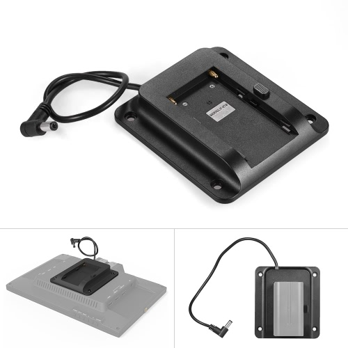 Battery Adapter Base Plate Battery Plate for Lilliput FEELWORLD Andoer Monitor Compatible for Sony NP-F970 F550 F770 F970 F960 F750 Battery