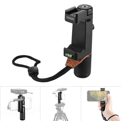 Sevenoak SK-PSC1 Handheld Smart Grip SmartPhone Clip Clamp Holder Support Stand Frame Bracket Tripod Mount Adapter w/ Hot Shoe Mount for iPone 7/6s/6 for Samsung Huawei Mobile Phone Cell Phone