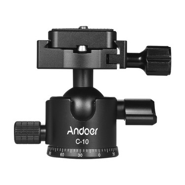 Andoer C-10 Aluminum Alloy Camera Tripod Ball...