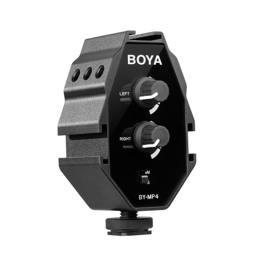 BOYA BY-MP4 2-channel Audio Adapter with Mono...