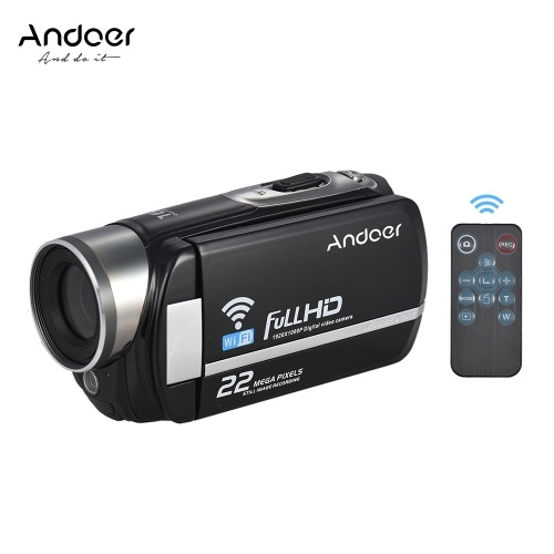 Andoer F460W 1080P 22MP WiFi Portable Digital Video Camera Camcorder
