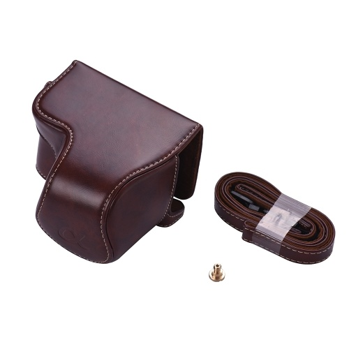 PU Leather Camera Case Bag with Camera Should...