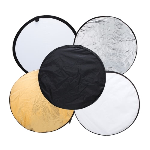 Andoer 43″ 110cm Disc 5 in 1 (Gold, Silver, White, Black, Translucent) Multi Portable Collapsible Photography Studio Photo Light Reflector