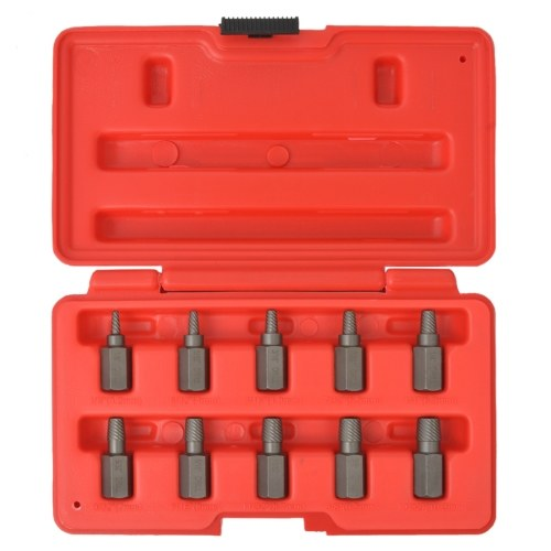 Set of Screw Extractors 10 pcs in Steel