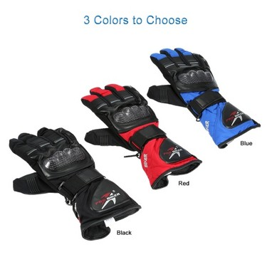 Pro-biker Breathable Full Finger Motorcycle Cycling Racing Riding Skiing Protective Gloves Built-in Lining Water Resistant Windproof Keep Warm Glove for Winter