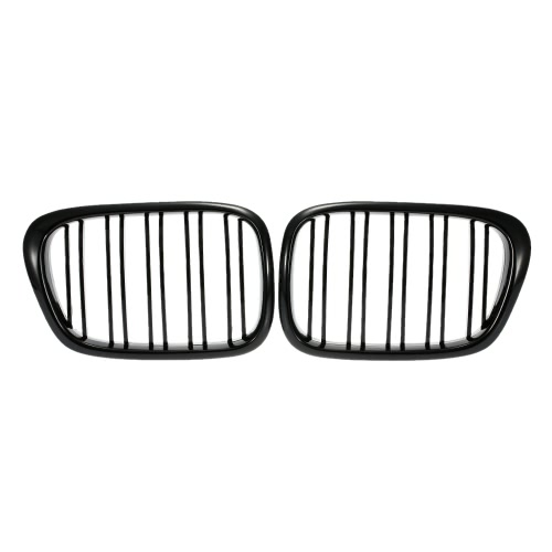 One Pair of Car Gloss Black Front Grille Grilles for BMW E39 2001-2004