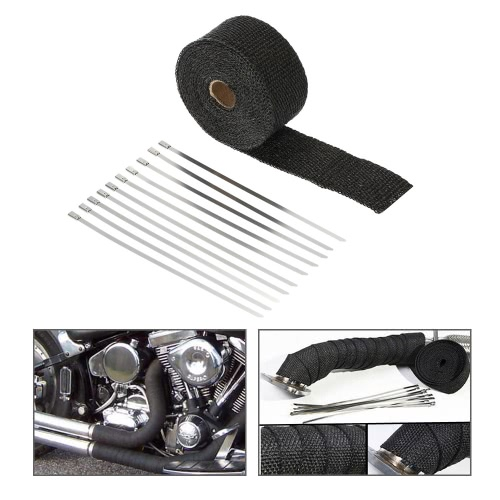 5m Exhaust Heat Wrap Turbo Pipe Heat Insulated Wrap for Car Motorcycle