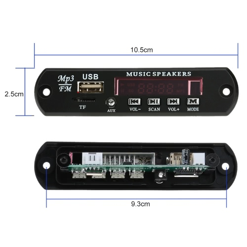 Car Music MP3 Decoder Board Audio FM Radio Module with Aux in USB Port TF Card Slot Remote Control