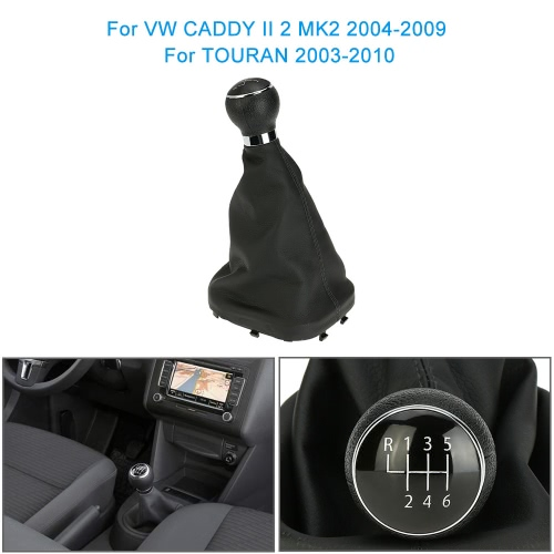 6 Speed Gear Shift Knob Gearstick Gaiter Boot Replacement Kit for VW CADDY II 2 MK2 2004-2009 TOURAN 2003-2010