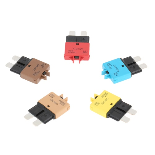 IZTOSSManual Reset Circuit Breaker Blade Fuse with Button 15A for Car Truck Motorcycle