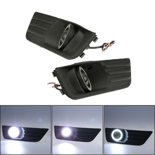 Pair of Car Lower Bumper Grille Fog Lights LE...