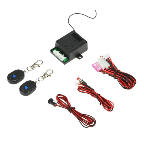 Universal Car Immobilizer Anti Theft Security System Alarm Protection with 2 Remote Controller