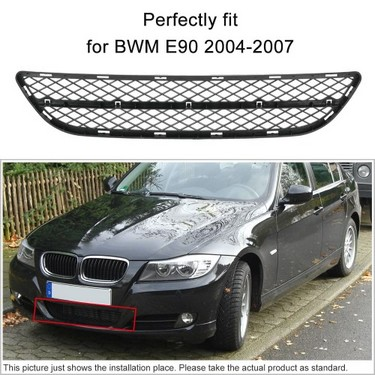 Front Bumper Center Lower Grille Grill Fits for BWM E90 2004-2007