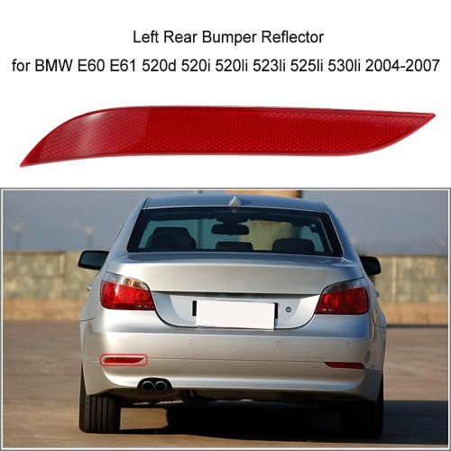 Left  Rear Bumper Reflector Light Lens for BMW E60 E61 520d 520i 520li 523li 525li 530li 2004-2007 63146915039