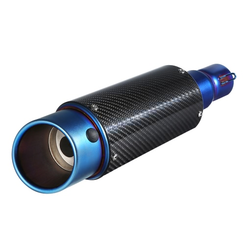38-51mm Carbon fiber Cover Oblique Tail Refit Exhaust Muffler With fit for Motorcycles ATV Universal