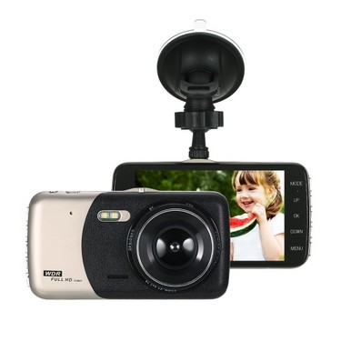 KKmoon 4″ Dual Lens 1080P HD Car DVR Dash Cam Camera Camcorder