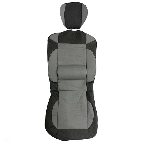 Universal PU Leather Car Front Single Seat Covers Black Gray
