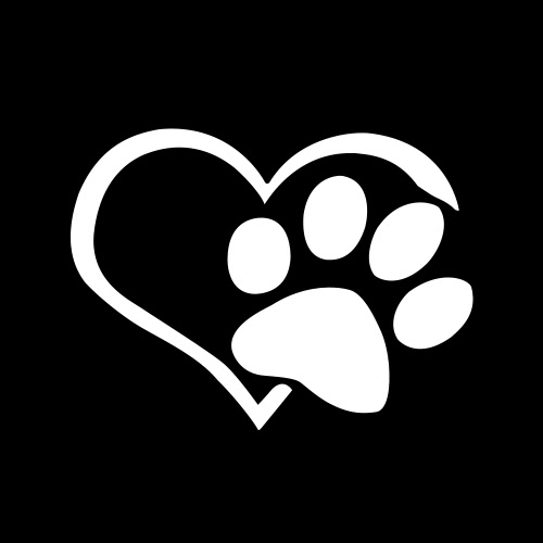 11*9.3CM Dog Heart Shape Pattern Paws Car Sticker Footprint Reflective Auto Waterproof Sun Resistant Window Sheeting 3D Windshield Decal Rear Outside Styling Vehicle Decoration Affixed Cover Laptop Truck Accessories