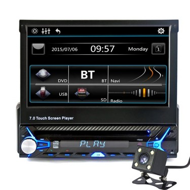 7″ Single Din Car Video Audio MP5 Player with Rear View Camera