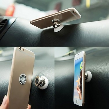 360-degree Rotary Magnetic Multi-function Mobile Phone Holder Stand Universal for Automotive Supplies Magnet