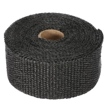 5m Exhaust Heat Wrap Roll Fiberglass Heat Insulated Wrap Durable Heat Shield Tape for Motorcycle Car with 6 Ties