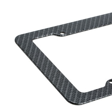 2pc Carbon Fiber Car License Plate Frames for 6″ x 12″ US Canada Car License Plate