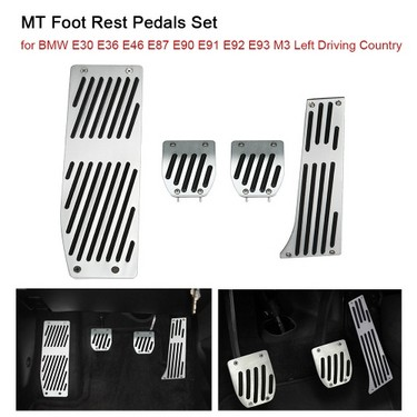 MT Foot Rest Pedals Set  for BMW E30 E36 E46 E87 E90 E91 E92 E93 M3  Left Driving Country