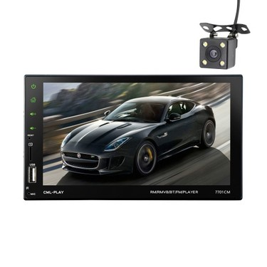 7inch Touch Screen 2 Din BT Car MP5 Player Car Radio Audio Stereo FM RDS with Camera Support Mirror  Link