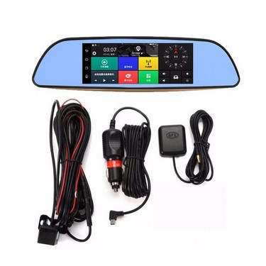 3G WIFI Car DVR GPS Nagivation 7″ 1080P Android 5.0 Smart BT Rearview Mirror Dual Camera Video Recorder