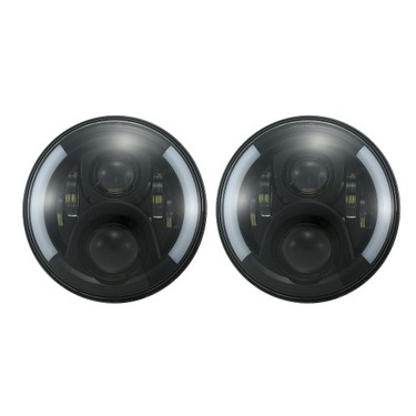 "Pair of 7"" LED Headlights High Lowa Beam DRL Halo Angel Eyes & Turn Signal for Jeep Wrangler 97-17 JK TJ"
