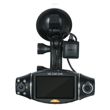 "1080P HD 2.7"" Dual Lens Dash Cam Car DVR Video Recorder Camera GPS Module"