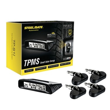 Steelmate TP-S1I TPMS Tire Pressure Monitor System Wireless Solar-powered Display 4 Internal Sensors