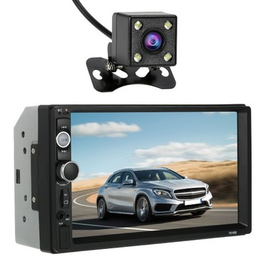 7 inch Universal 2 Din HD BT Multimedia Car Radio MP5 Player with Steering Wheel Control and Rear view camera