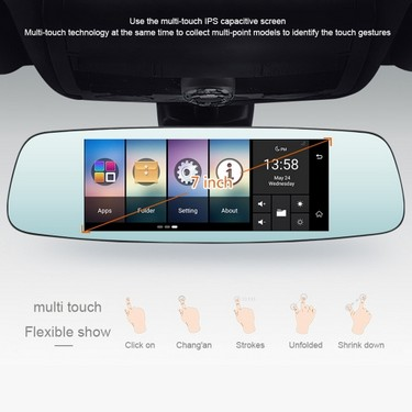 JUNSUN A800 Multifunction Wifi Car Driving Recorder Portable Auto DVR Dual Len Rearview Camera