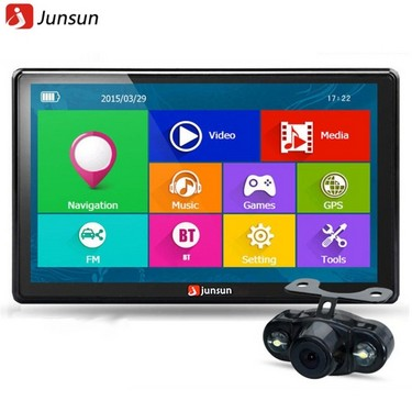 JS-D100S Multifunction BT Car Multi-media Player Navigation with Rear View Cam and Free Maps of North America