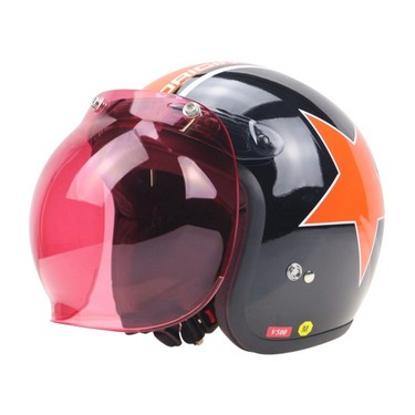 3-Snap Bubble Visor Shield Universal 10 Color Opt & Flip Up Adapter Helmet Snaps