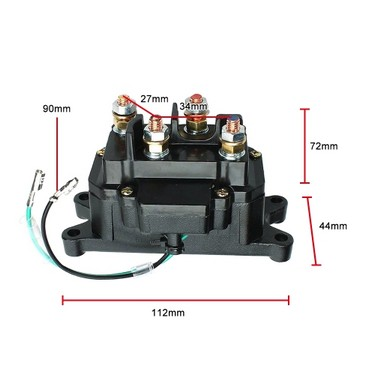 Contactor & Winch Rocker COMBO 12V Solenoid Relay Thumb Switch For ATV UTV New