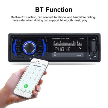 7 Colors Backlight Fixed Panel Car MP3 Player BT FM Radio DC12V USB AUX SD 32GB