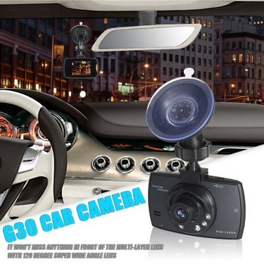 G30 VGA Full HD DVR Vehicle Camera Dash Cam Video Recorder G-sensor with Night Vision