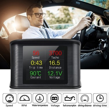 P10 Car HUD Head Up Display Smart Digital Speedometer with OBDII/EUOBD Port LED Display OBDII Scanner Diagnostic Tool