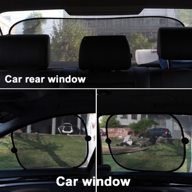 5pcs Set Car Sun Shade for 4 Sides 1 Rear Window Sunshade Harmful UV/Sun Protection for Baby Car Window with12 Extra Suction Cups