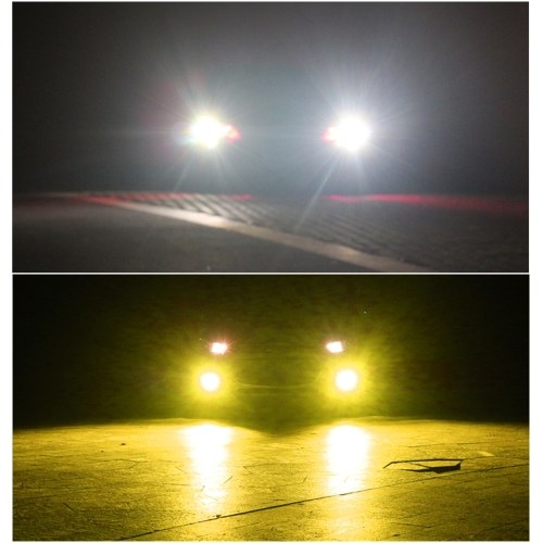 2PCS LED Fog Lights Lamps Replacement 9005/9006  Dual Color In 1 (6000K/3000K)