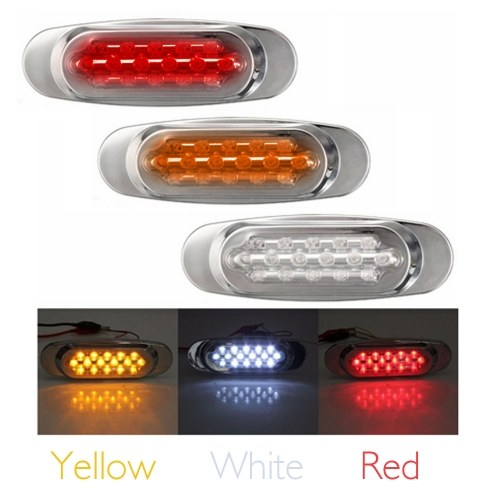 10pcs Sealed Trailer Truck Sidelights Clearance Side Marker Light with 16 LED Lights Lamps of Motor Trucks